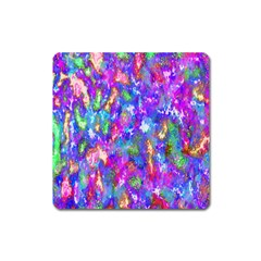 Abstract Trippy Bright Sky Space Square Magnet