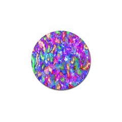 Abstract Trippy Bright Sky Space Golf Ball Marker