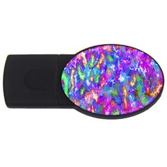 Abstract Trippy Bright Sky Space USB Flash Drive Oval (2 GB)