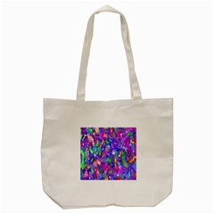 Abstract Trippy Bright Sky Space Tote Bag (Cream)