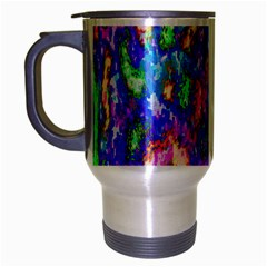 Abstract Trippy Bright Sky Space Travel Mug (Silver Gray)