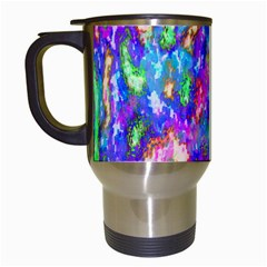 Abstract Trippy Bright Sky Space Travel Mugs (White)