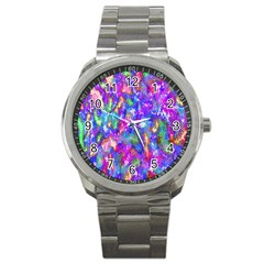 Abstract Trippy Bright Sky Space Sport Metal Watch