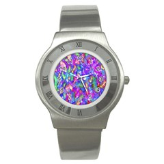 Abstract Trippy Bright Sky Space Stainless Steel Watch