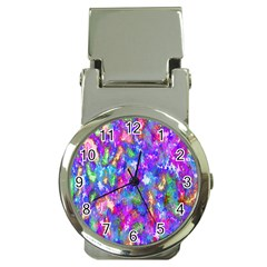 Abstract Trippy Bright Sky Space Money Clip Watches