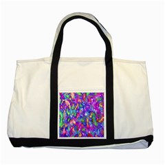 Abstract Trippy Bright Sky Space Two Tone Tote Bag