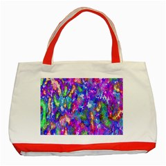 Abstract Trippy Bright Sky Space Classic Tote Bag (Red)