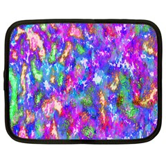 Abstract Trippy Bright Sky Space Netbook Case (Large)