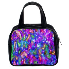 Abstract Trippy Bright Sky Space Classic Handbags (2 Sides)