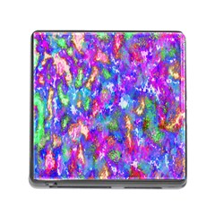 Abstract Trippy Bright Sky Space Memory Card Reader (square)