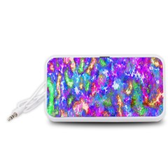 Abstract Trippy Bright Sky Space Portable Speaker (White)