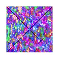 Abstract Trippy Bright Sky Space Acrylic Tangram Puzzle (6  x 6 )