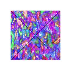 Abstract Trippy Bright Sky Space Acrylic Tangram Puzzle (4  x 4 )