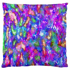 Abstract Trippy Bright Sky Space Large Cushion Case (Two Sides)