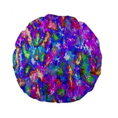 Abstract Trippy Bright Sky Space Standard 15  Premium Round Cushions