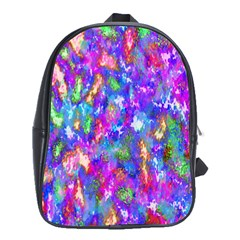 Abstract Trippy Bright Sky Space School Bags (XL)