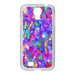 Abstract Trippy Bright Sky Space Samsung GALAXY S4 I9500/ I9505 Case (White)
