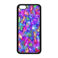 Abstract Trippy Bright Sky Space Apple iPhone 5C Seamless Case (Black)