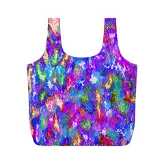 Abstract Trippy Bright Sky Space Full Print Recycle Bags (M)