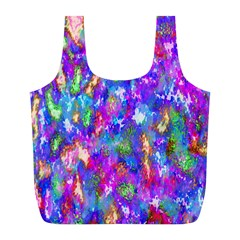 Abstract Trippy Bright Sky Space Full Print Recycle Bags (L)