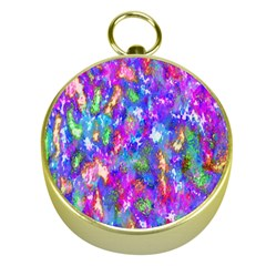 Abstract Trippy Bright Sky Space Gold Compasses