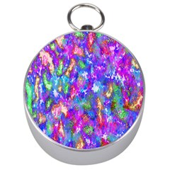 Abstract Trippy Bright Sky Space Silver Compasses