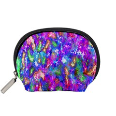Abstract Trippy Bright Sky Space Accessory Pouches (small)