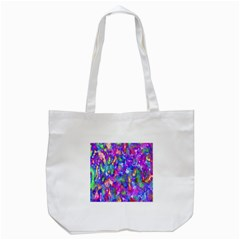 Abstract Trippy Bright Sky Space Tote Bag (White)