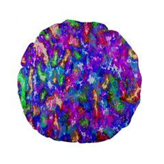 Abstract Trippy Bright Sky Space Standard 15  Premium Flano Round Cushions