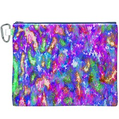Abstract Trippy Bright Sky Space Canvas Cosmetic Bag (XXXL)