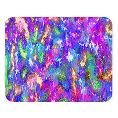 Abstract Trippy Bright Sky Space Double Sided Flano Blanket (Large)