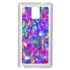 Abstract Trippy Bright Sky Space Samsung Galaxy Note 4 Case (white)
