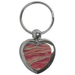 Scaly Pattern Colour Green Pink Key Chains (heart)