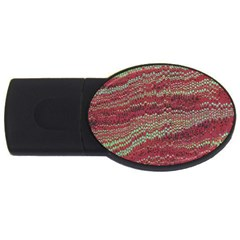 Scaly Pattern Colour Green Pink Usb Flash Drive Oval (2 Gb)