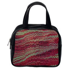 Scaly Pattern Colour Green Pink Classic Handbags (one Side)