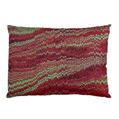 Scaly Pattern Colour Green Pink Pillow Case (two Sides)
