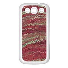 Scaly Pattern Colour Green Pink Samsung Galaxy S3 Back Case (white)