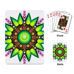 Design Elements Star Flower Floral Circle Playing Card