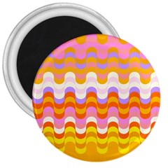 Dna Early Childhood Wave Chevron Rainbow Color 3  Magnets