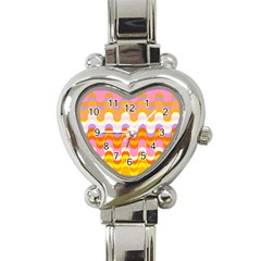 Dna Early Childhood Wave Chevron Rainbow Color Heart Italian Charm Watch