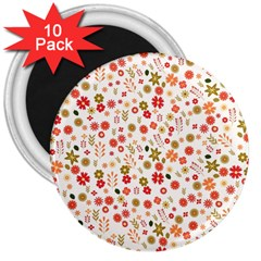 Floral pattern 3  Magnets (10 pack)