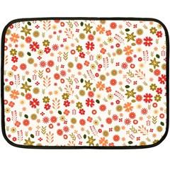 Floral pattern Double Sided Fleece Blanket (Mini)