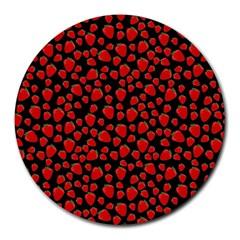 Strawberry  pattern Round Mousepads