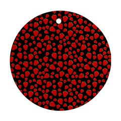 Strawberry  pattern Ornament (Round)
