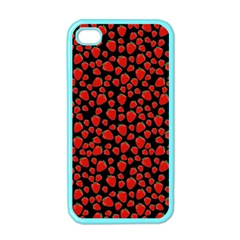 Strawberry  Pattern Apple Iphone 4 Case (color)