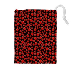 Strawberry  pattern Drawstring Pouches (Extra Large)