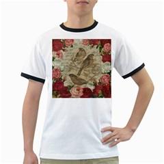 Vintage birds Ringer T-Shirts