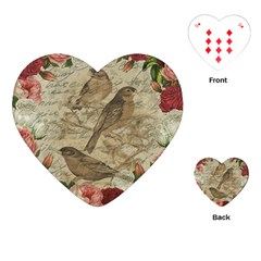 Vintage birds Playing Cards (Heart)