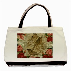 Vintage birds Basic Tote Bag (Two Sides)