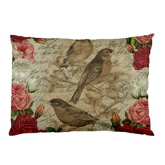 Vintage Birds Pillow Case